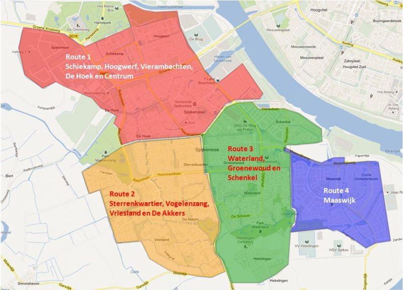Verkeersexamen Spijkenisse overzicht-wijken