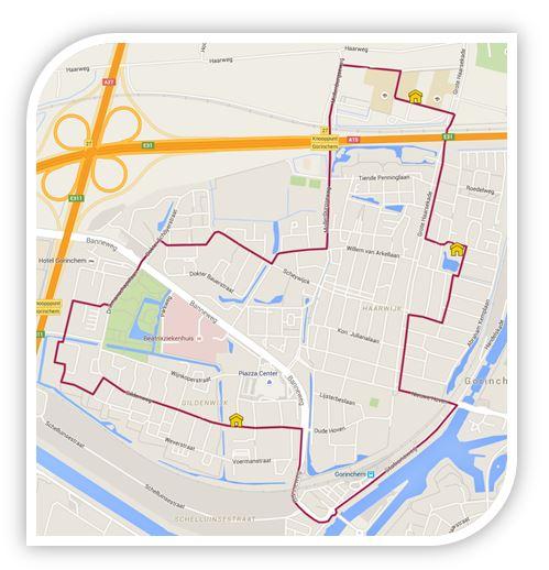 Plattegrond Verkeersexamen Gorinchem